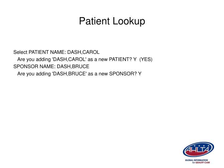Patient Lookup