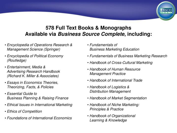 578 Full Text Books & Monographs