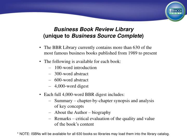 Business Book Review Library