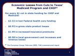 economic losses from cuts to texas medicaid program and chip