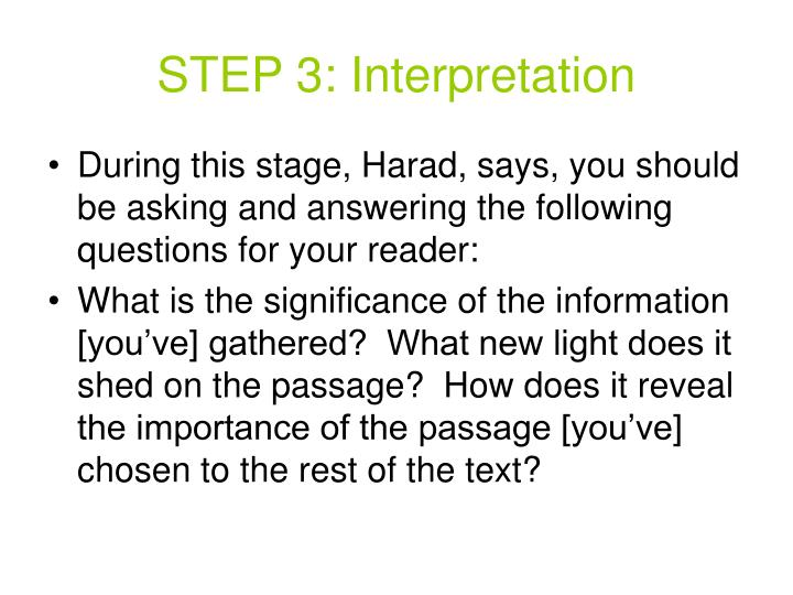 STEP 3: Interpretation