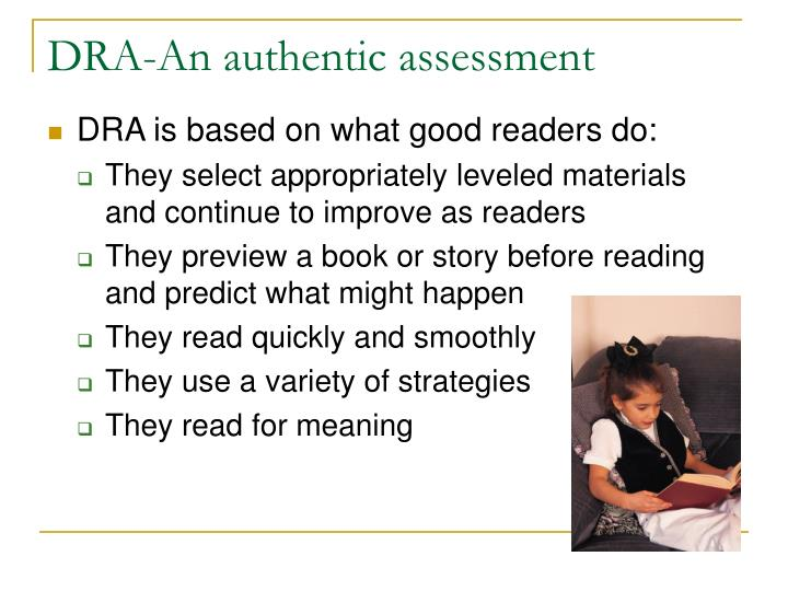 DRA-An authentic assessment