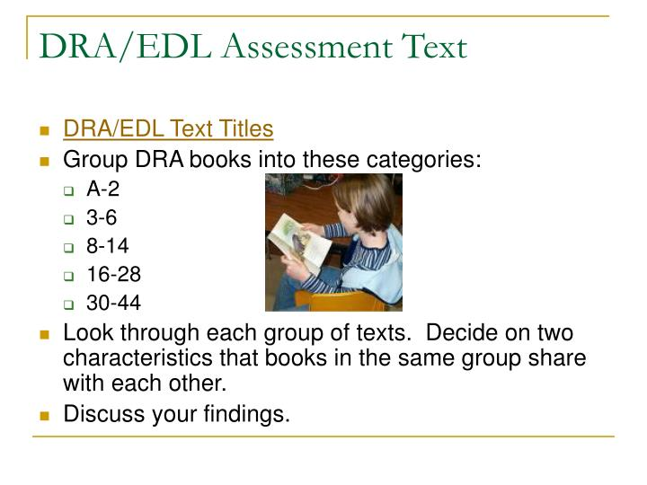 DRA/EDL Assessment Text