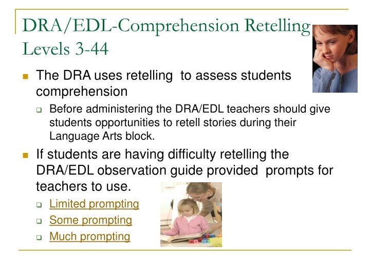 DRA/EDL-Comprehension Retelling