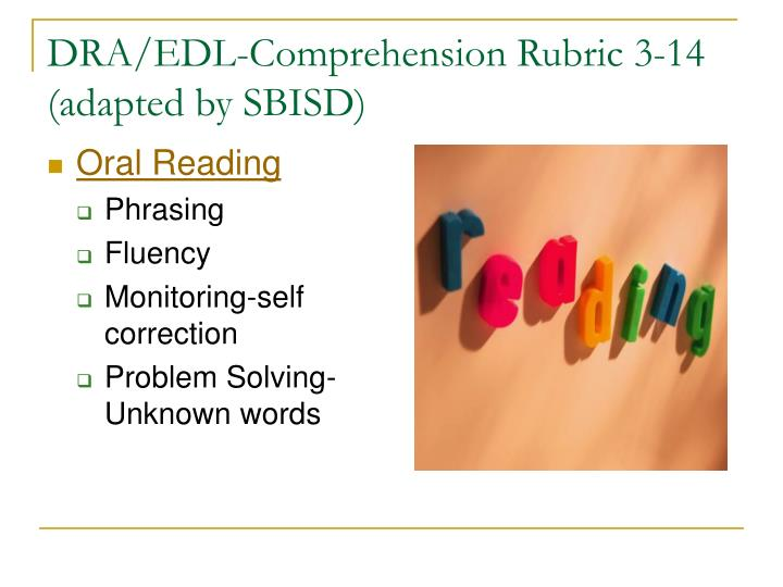DRA/EDL-Comprehension Rubric 3-14