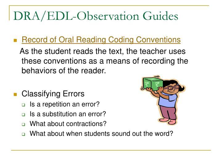 DRA/EDL-Observation Guides