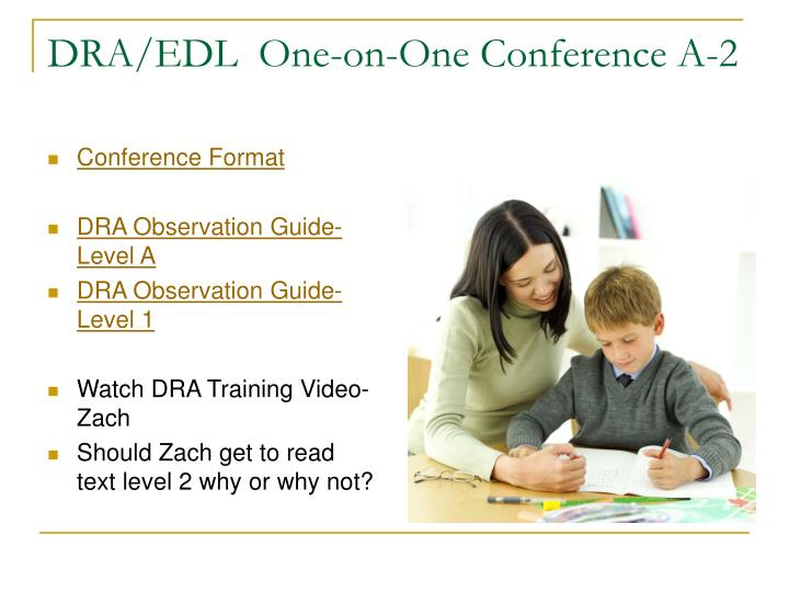 DRA/EDL  One-on-One Conference A-2
