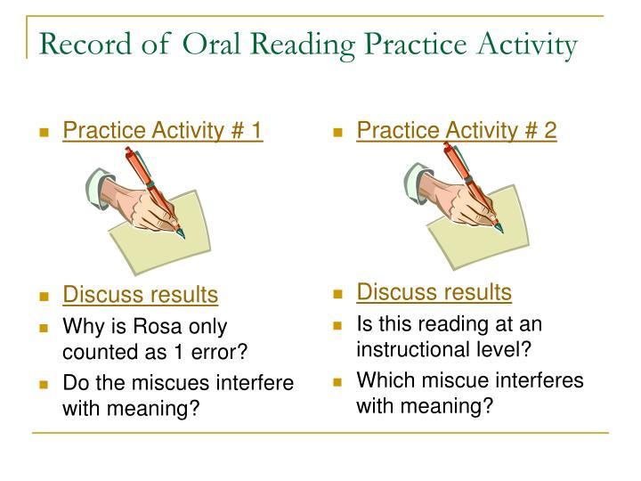 Practice Activity # 1