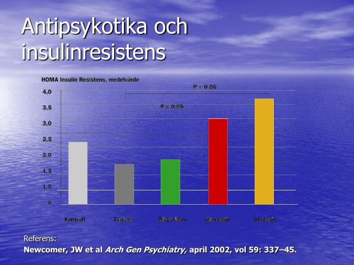 Antipsykotika och insulinresistens
