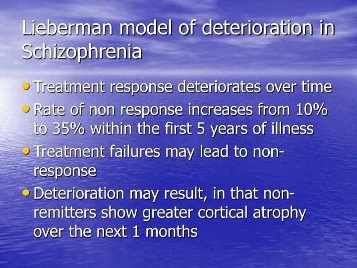 Lieberman model of deterioration in Schizophrenia