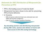 rationale for anc distribution of misoprostol for prevention of pph