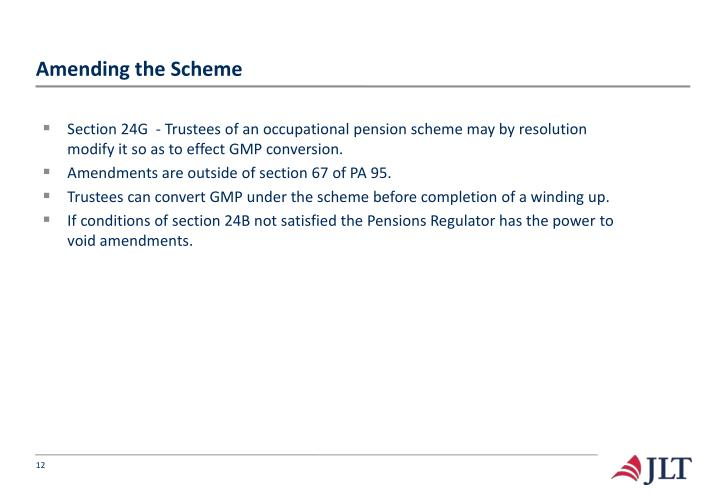 Amending the Scheme