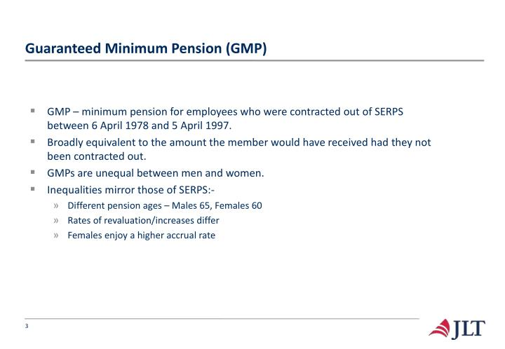 Guaranteed minimum pension gmp