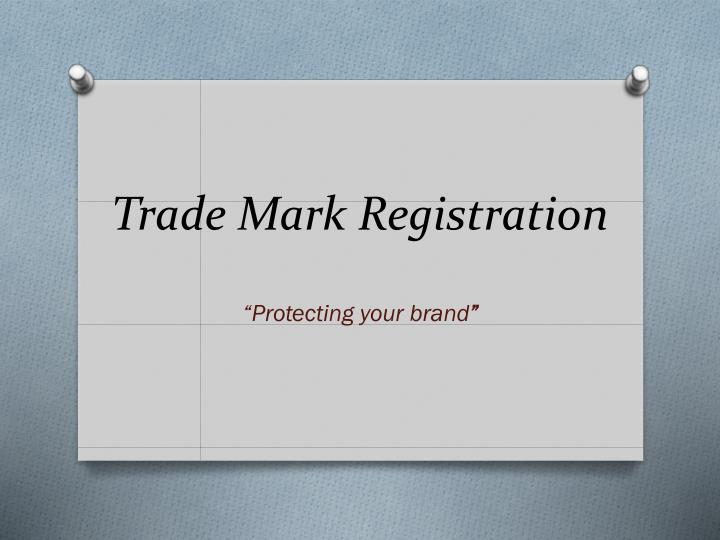 Trade mark registration