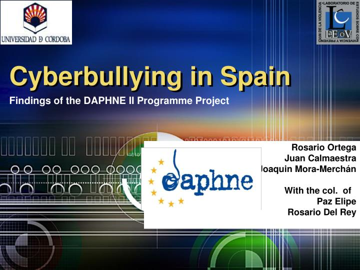 Cyberbullying in spain