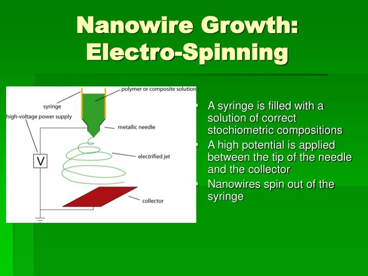 Nanowire Growth:  Electro-Spinning