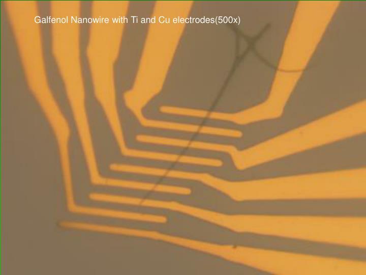 Galfenol Nanowire with Ti and Cu electrodes(500x)
