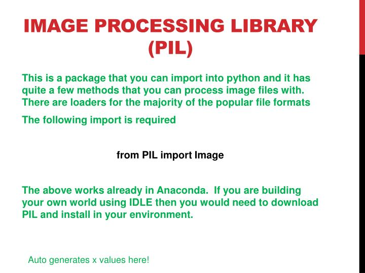 Image processing library pil