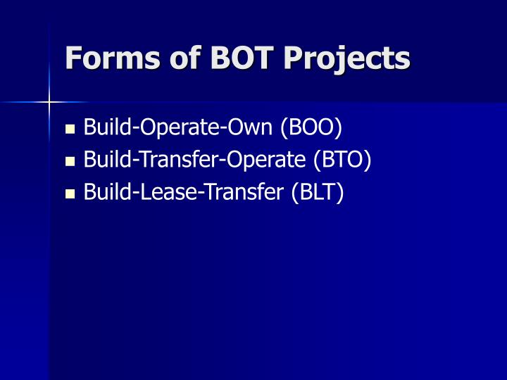 Forms of bot projects