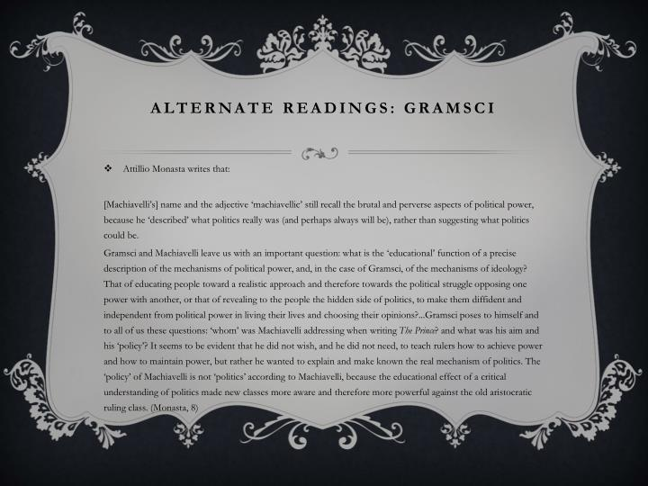 ALTERNATE READINGS: GRAMSCI