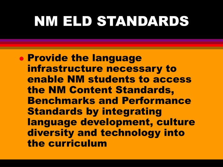 NM ELD STANDARDS