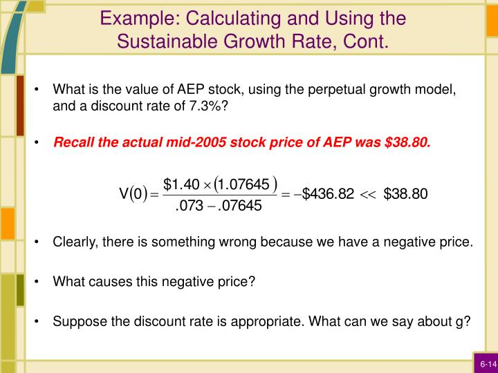 Example: Calculating and Using the