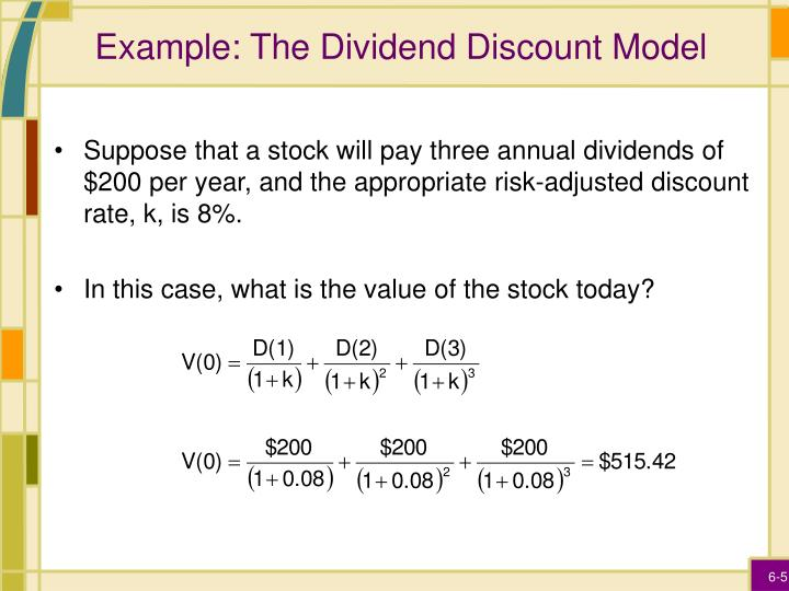 Example: The Dividend Discount Model