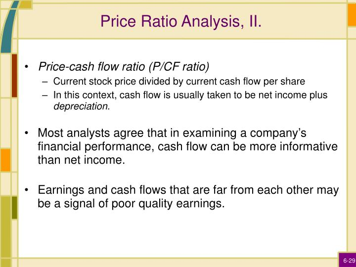 Price Ratio Analysis, II.