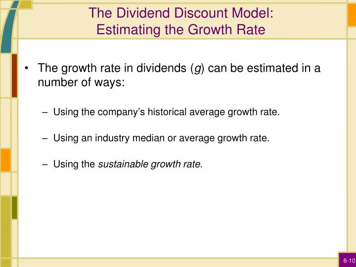The Dividend Discount Model: