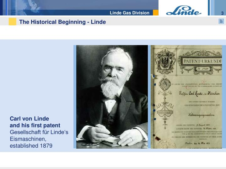 The historical beginning linde