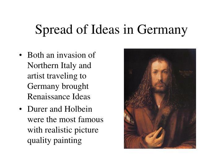 Spread of Ideas in Germany