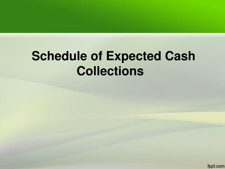 Schedule of Expected Cash Collections