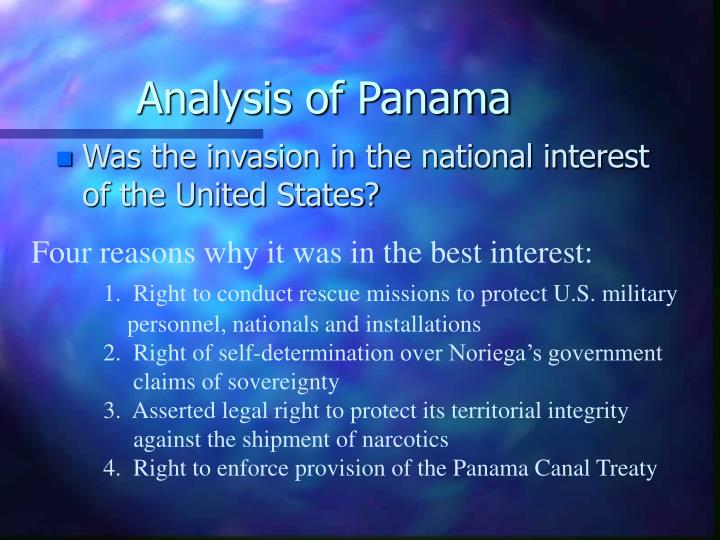 Analysis of Panama