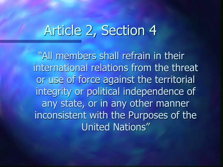 Article 2, Section 4