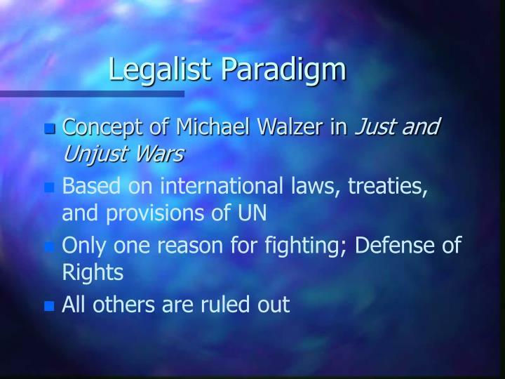Legalist Paradigm