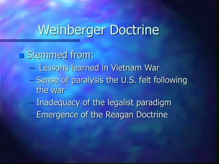 Weinberger Doctrine