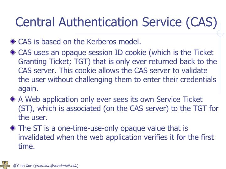 Central Authentication Service (CAS)