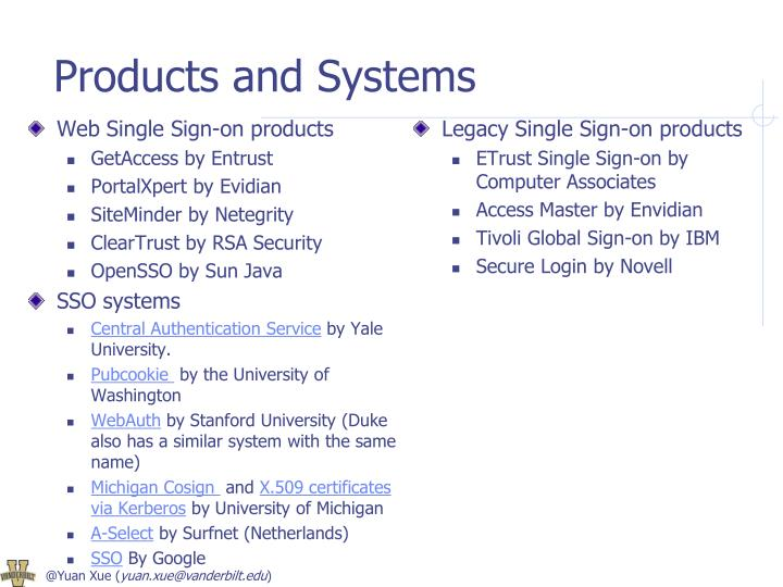 Products and Systems