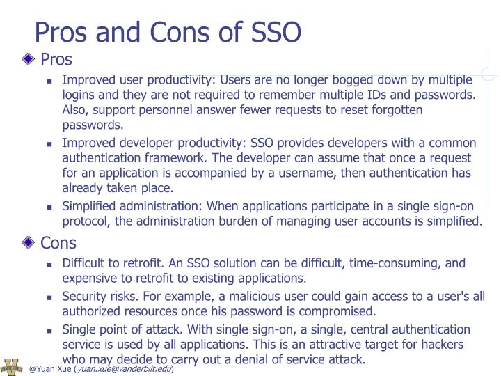 Pros and Cons of SSO