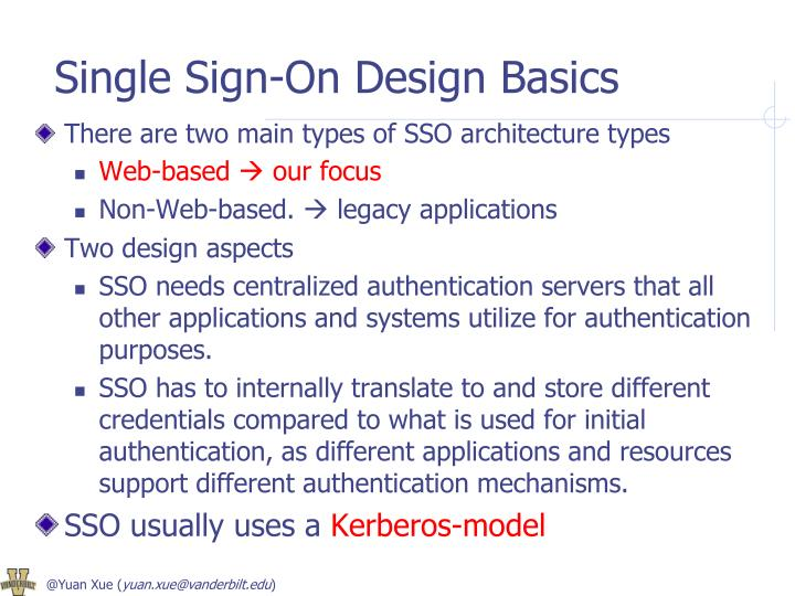 Single Sign-On Design Basics