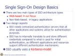 single sign on design basics