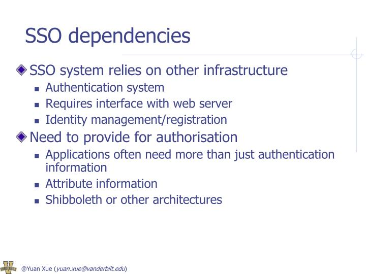 SSO dependencies