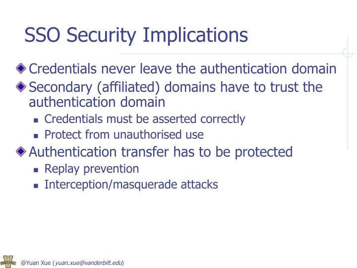 SSO Security Implications