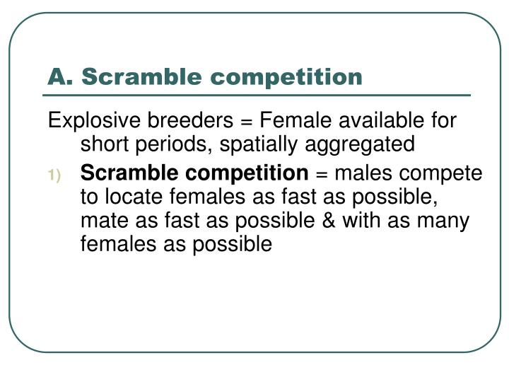 A. Scramble competition