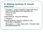 ii mating systems sexual selection