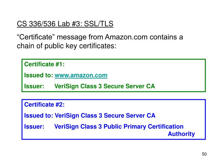 CS 336/536 Lab #3: SSL/TLS
