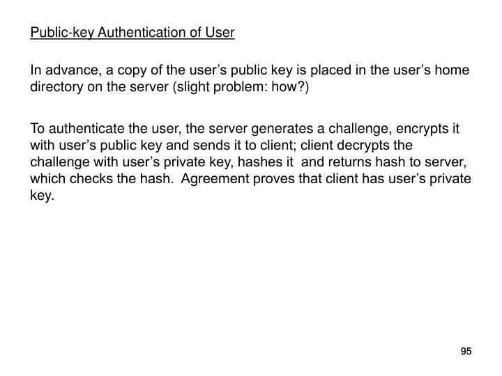 Public-key Authentication of User