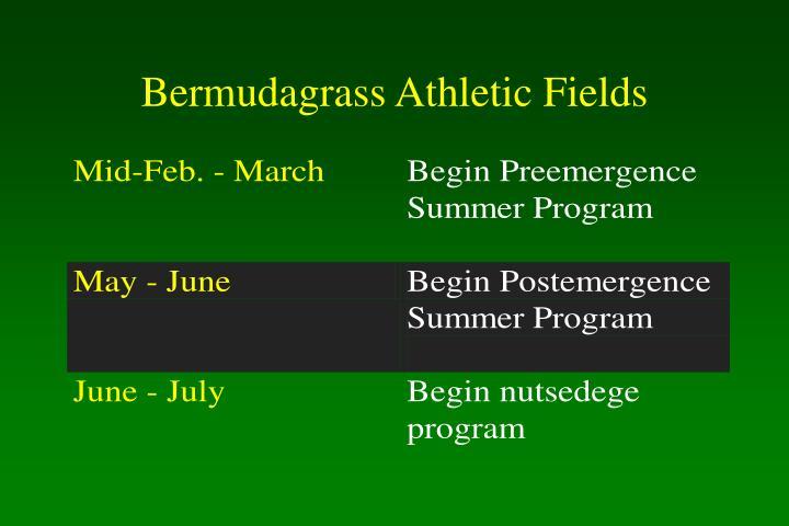 Bermudagrass Athletic Fields