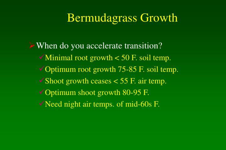 Bermudagrass Growth