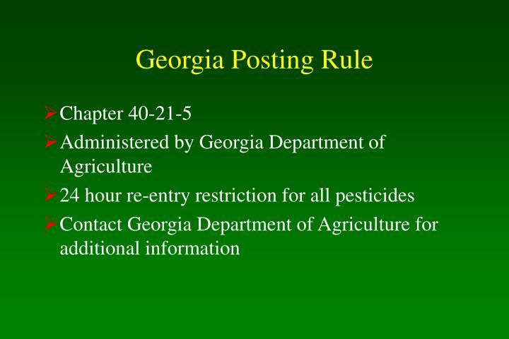 Georgia Posting Rule